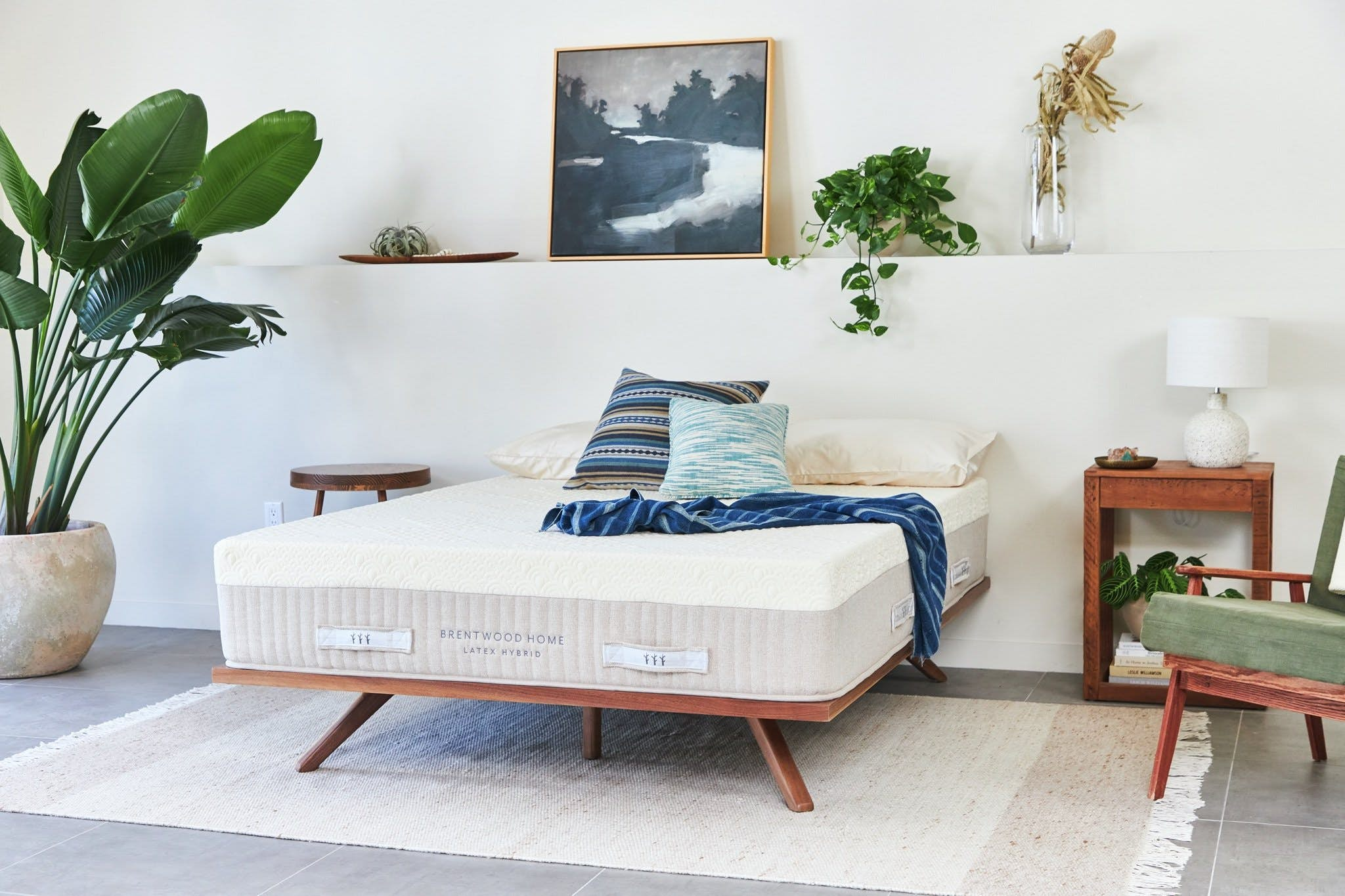 Brentwood Home's New Mattress Made from Upcycled Denim and Water Bottles